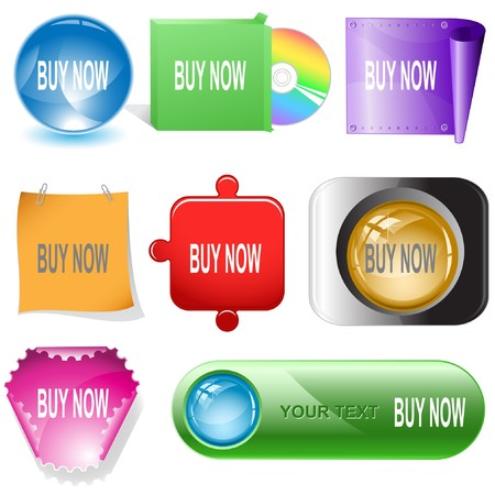 Buy now. internet buttons. Stock Vector - 7177023