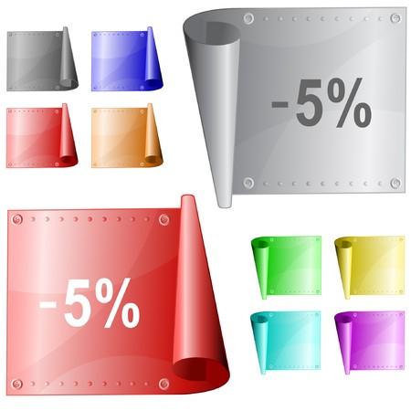-5% metal surface. Stock Vector - 7177358