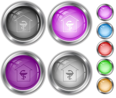 Pharmacy internet buttons. Stock Vector - 7177494
