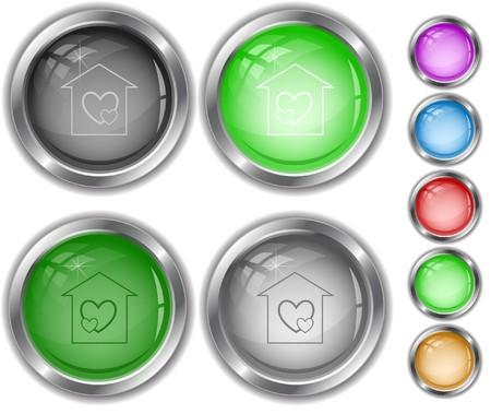 orphanage: Orphanage internet buttons. Illustration