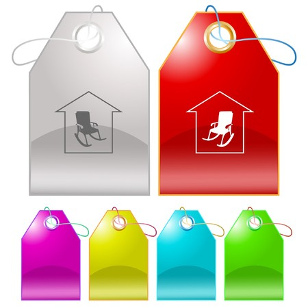 Home comfort tags. Vector