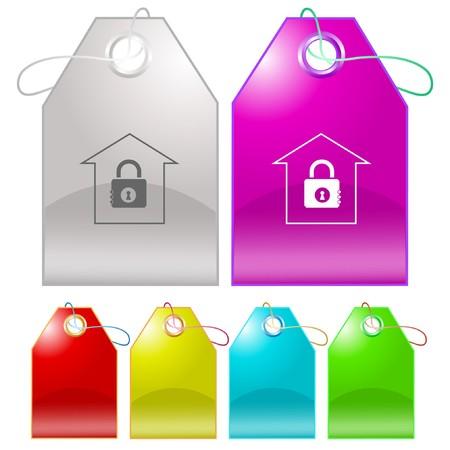 Bank tags. Stock Vector - 7176276