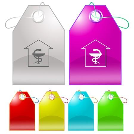 Pharmacy tags. Vector