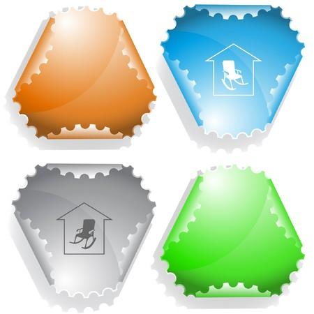Home comfort sticker. Stock Vector - 7176443