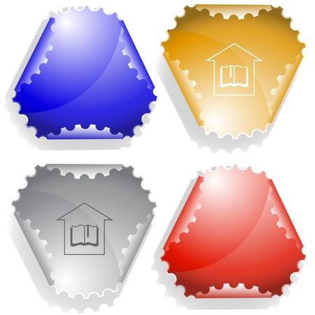 Library sticker. Stock Vector - 7176525