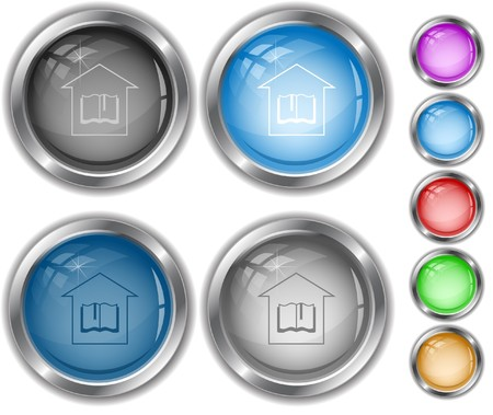 Library internet buttons. Vector