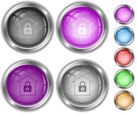 Bank internet buttons. Stock Vector - 7177493