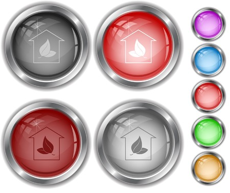 Protection of nature internet buttons. Vector