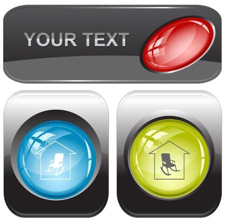 Home comfort internet buttons. Stock Vector - 7176583