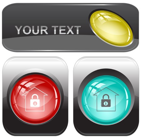 Bank internet buttons. Stock Vector - 7176584
