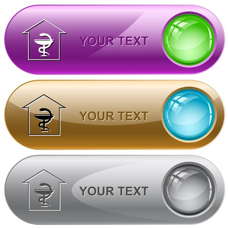 Pharmacy internet buttons. Stock Vector - 7176593