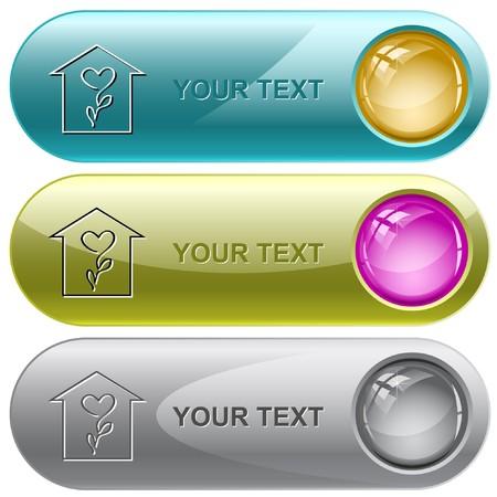 Flower shop internet buttons. Stock Vector - 7176595