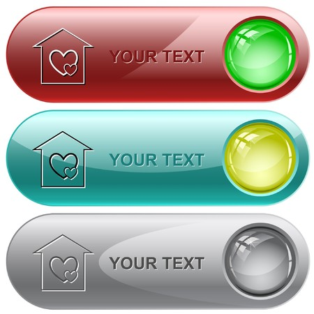 Orphanage internet buttons. Vector