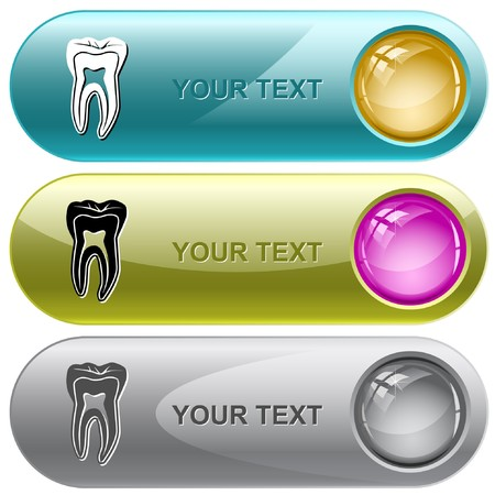 Tooth internet buttons. Vector