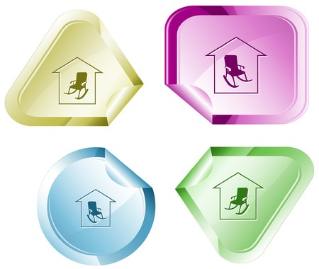 Home comfort sticker. Stock Vector - 7176349