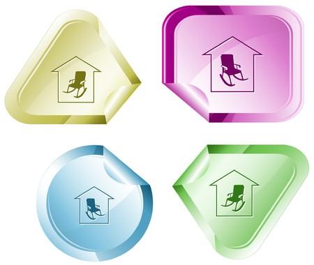 Home comfort sticker. Stock Vector - 7176349