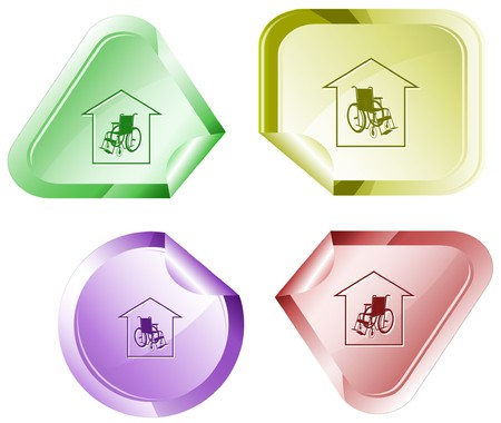 Nursing home sticker. Stock Vector - 7177163