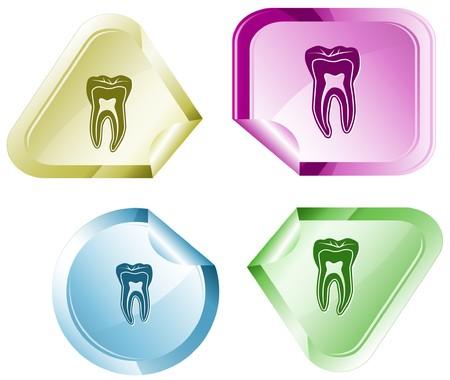 declinate: Tooth sticker.