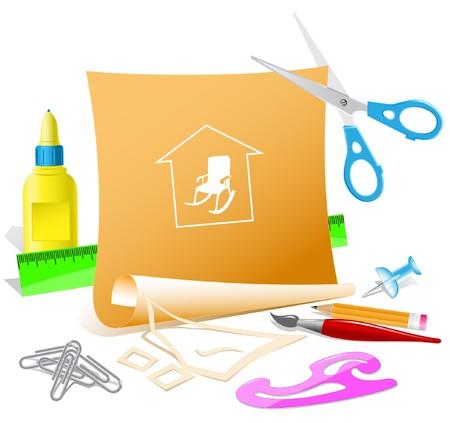 Home comfort. paper template. Stock Vector - 7177156