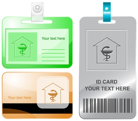 Pharmacy. id cards. Stock Vector - 7176221