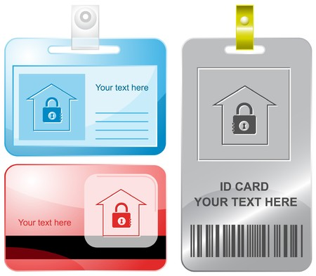 Bank. id cards. Vector