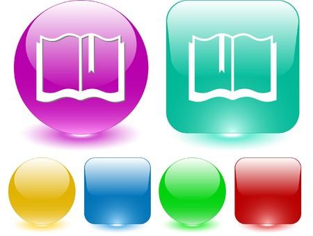 Book. Vector interface element. Stock Vector - 7187270