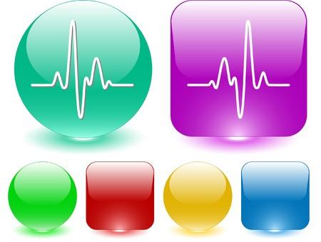 Cardiogram. Vector interface element. Stock Vector - 7187405