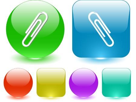 Clip. Vector interface element. Stock Vector - 7187327