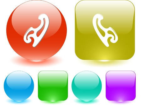 mould: French curve. Vector interface element. Illustration