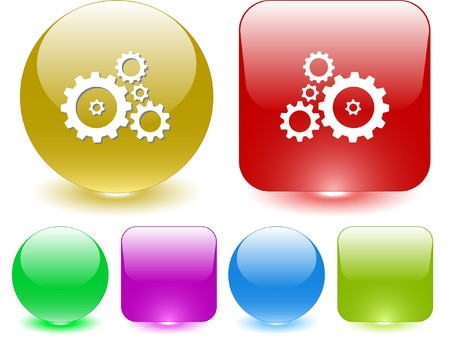 Gears. Vector interface element. Vector