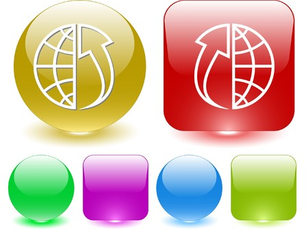 Globe and array up. Vector interface element. Stock Vector - 7187343