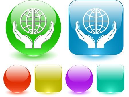 保護の世界。ベクトル インタ フェース要素。