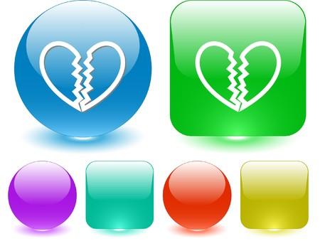 unrequited love: Amor no correspondido. Elemento de la interfaz de vector.