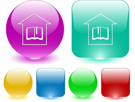 Library. Vector interface element. Stock Vector - 7187293