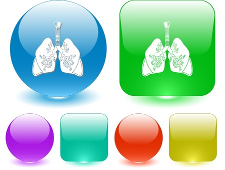 Lungs. Vector interface element. Vector