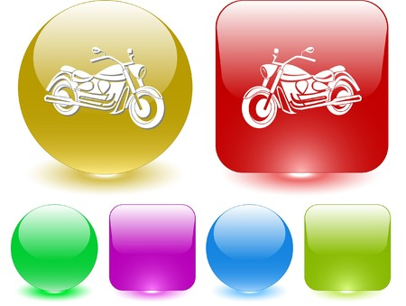 Motorcycle. Vector interface element. Stock Vector - 7187484