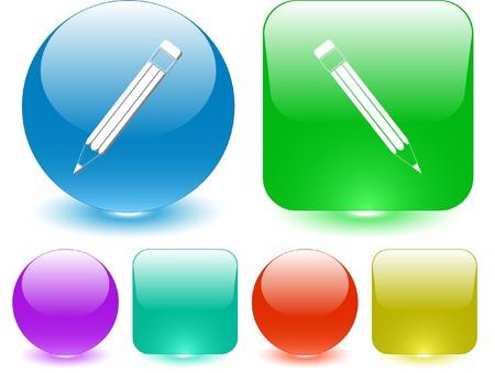 Pencil. Vector interface element. Vector