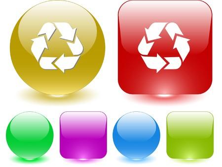 recycle symbol vector: Recycle symbol. Vector interface element.