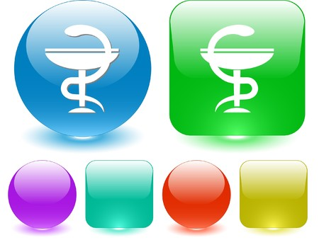 pharma: Pharma symbol. Vector interface element. Illustration