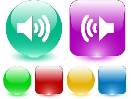 sonic: Speaker. Vector interface element. Illustration