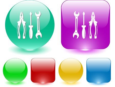 Tools. Vector interface element. Vector