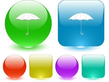 Umbrella. Vector interface element. Stock Vector - 7187162