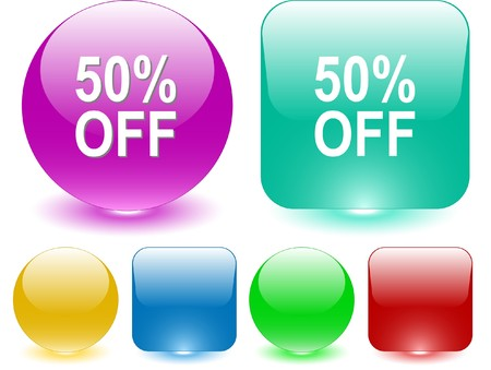 50% OFF. Vector interface element. Stock Vector - 7187340