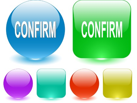Confirm. Vector interface element. Stock Vector - 7187202