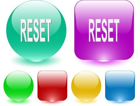 Reset. Vector interface element. Ilustração