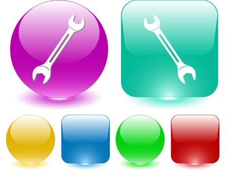 Spanner. Vector interface element. Stock Vector - 7187214