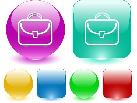 Briefcase. Vector interface element. Stock Vector - 7187326