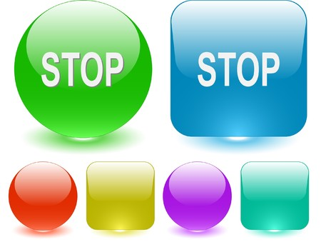 inhibition: Stop. Vector interface element.