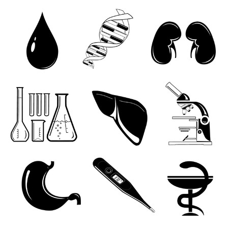 Vector icons of medical elements Vector
