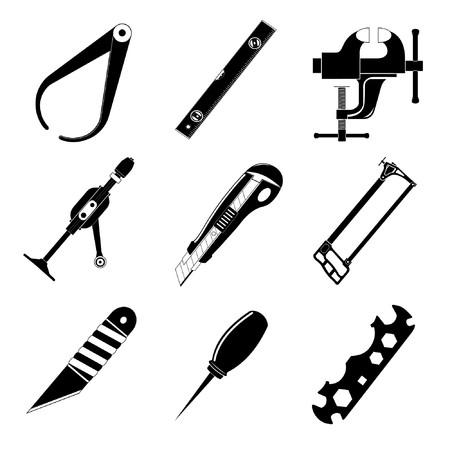 Vector iconen van hulp programma  Vector Illustratie